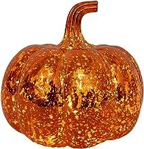 OSALADI Halloween LED glas pompoen licht batterij aangedreven LED pompoen lichten tafelblad decoratie voor Halloween en Th...
