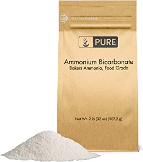 PURE Ammonium Bicarbonate (2 lb.),Traditional Leavening Agent Used in Flat Baked Goods such as Cookies or Crackers