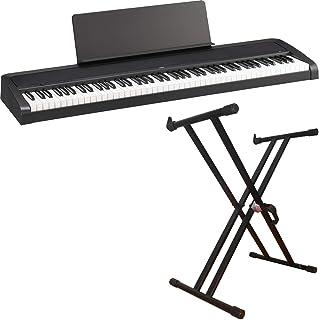 【セット割引 X型ダブルスタンド KS-150 セット】KORG/コルグ 電子ピアノ B2 (BK/ブラック)