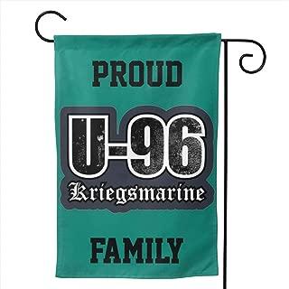 LILIBEEE Proud WW2 U-Boat - U-96 Kriegsmarine (Distressed) Family Double Sided Flag Garden Flag Yard Decoration Flag