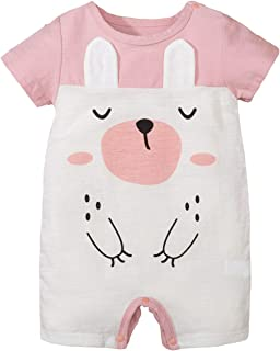 Yinuoday Yinuoday Baby Cartoon Muster Strampler Baby Niedlichen Overall Super Weichen Babysuit Baby Shortall