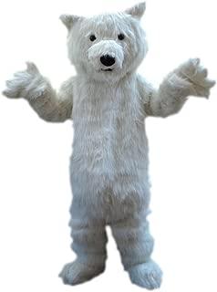 Sinoocean Polar Bear Adult Mascot Costume Fancy Dress Cosplay Outfit