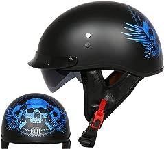 MTTKTTBD Motorrad Halbhelme Brain-Cap /· Halbschale Motorrad-Helm Jet-Helm Roller-Helm Scooter-Helm Mofa-Helm Retro Harley Motorrad Half Helm f/ür Cruiser Chopper Biker