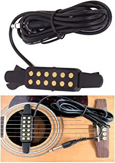 Xtag Guitar Pickup Contact Mic. Black Clip-On Acoustic Guitar Pickup Sound Amplify-15205409MG