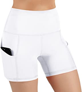 a056a94b8 ODODOS High Waist Out Pocket Yoga Short Tummy Control Workout Running  Athletic Non See-Through