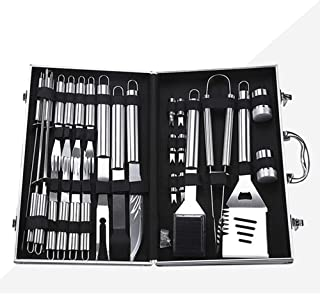 BBQ Tools Set,U-HOOME 27 Pcs BBQ Grill Set Steak Knife& Fork, Sptula, Tongs and Cleaning Brush - Complete Barbecue Accesso...