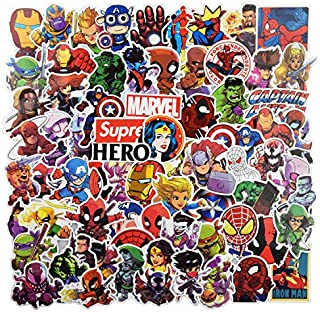 Cool Superheros Stickers for Laptop 100pcs,KONLOY Stickers for Water Bottles,Vinyl Stickers for Laptop Skateboard Luggage Decal Graffiti Stickers,Gift for Kids, Adult- No-Duplicate Pack