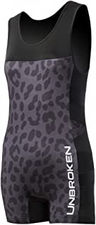 Unbroken Designs Womens/Mens Powerlifting Singlet, Weightlifting Singlet or Wrestling Singlet for Powerlifters & Weightlifters Leopard & Lace Design with a Fashion-Forward Edge