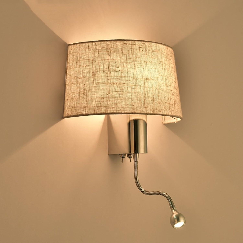 MoMo Modernes Einfaches Lesetuch-Hotel-Wohnzimmer-Schlafzimmer-Gang führte Nachttischlampe mit Schalter-Amerikaner-Wand-Lampe