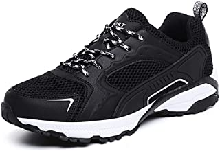 XUJW-Shoes, Athletic Shoes for Men Sports Shoes Lace Up Style Mesh Material Fashion Stitching Hollow Outsole Lightweight Flexible Durable Travel Classic Soft (Color : Black, Size : 9 UK)