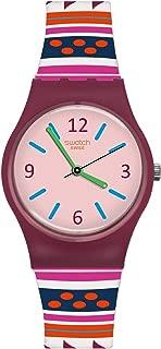 Swatch Women's Laraka LP152 Matte Red Silicone Swiss Quartz Fashion Watch