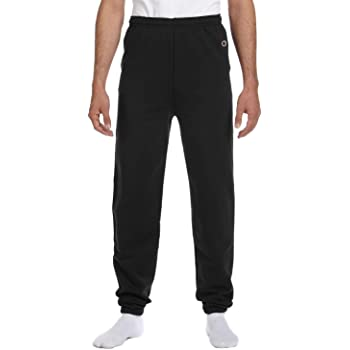 Champion 50/50 Adult Fleece Pant Sweatpants - No Pockets - Black, 2XL