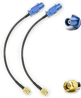 Vecys Adaptador Fakra Adaptador SMA Cable Antena GPS Fakra C a Conector SMA RG174 15 cm 6 Pulgadas 2 Piezas para El Automó...