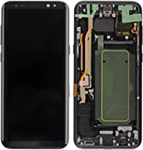GG MALL AMOLED LCD Display Touch Screen Digitizer Assembly Replacement + Frame for Samsung Galaxy S8+ Plus G955F G955A G955P G955V G955T G955R4