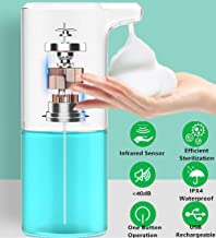 Aeifond Automatic Foaming Soap Dispenser Touchless, 0.25s Rapid Foaming 12oz, USB Charging Waterproof Infrared Motion Sensor, Soap Dispenser Switch for Bathroom Kitchen Toilet Office Hotel