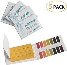 HAPY SHOP 5PCS Litmus pH Test Strips, Universal Application Ph. 1-14 Test Paper, Test pH for Saliva Soil Testing, 400 PH Strips Total