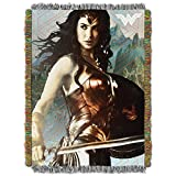 DC Comics Wonder Woman, 'We War' Woven Tapestry Throw Blanket, 48' x 60', Multi Color, 1 Count