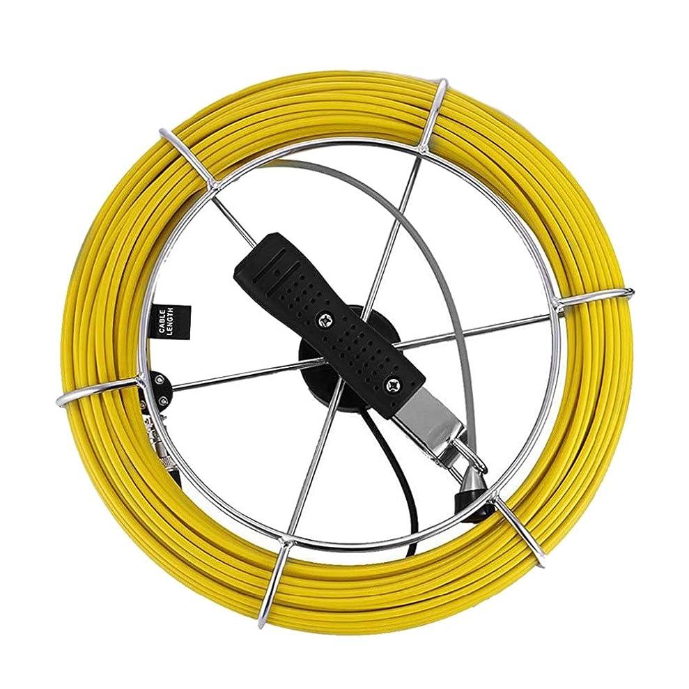 成果重量食べるRETYLY 20Mパイプ下水道検査カメラケーブルIP68ドレイン工業用内視鏡線ケーブルビデオスネークカメラケーブル