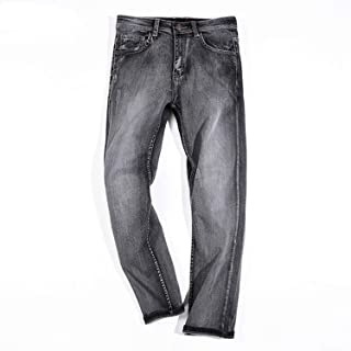 Be fearless 2019 Autumn New Denim Trousers Man Solid Color Fashion Casual Loose Straight Wide Leg Cowboy Pants Male