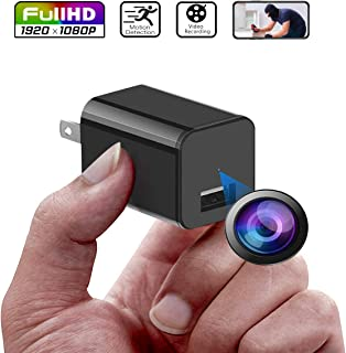 Spy Camera, Full HD 1080p Hidden Camera Charger, Loop Recording USB Hidden Spy Camera, No Wifi Needed Mini USB Charger Spy Cam, Hidden Spy Cam with Motion Detection, Can be used as charger
