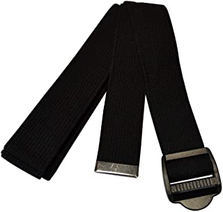 (Black) - Yogaaccessories 3M Cinch Buckle Cotton Yoga Strap. Huge Saving