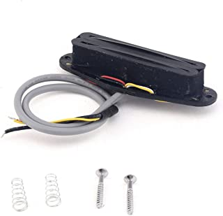 Musiclily Pro Electric Guitar Dual Hot Rail Humbucker Neck Bridge Pickup Blade Single Coil Size Pickups for Fender Strat Stratocaster Guitar Parts Replacement, Black