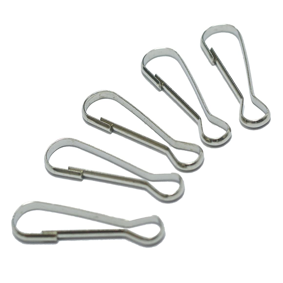 Inton 200 Pcs - Metal Spring Hooks Purse Pulis Snap Clip for Lanyard Zipper Pull Id Card (25mm, Nickel)