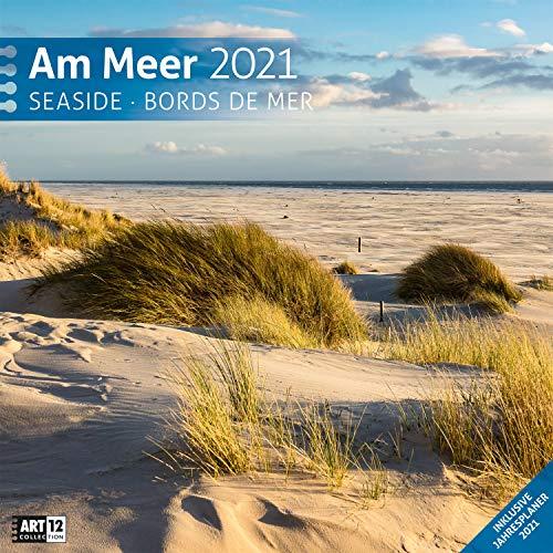Am Meer 2021, Wandkalender / Broschürenkalender im Hochformat (aufgeklappt 30x60 cm) - Geschenk-Kalender mit Monatskalendarium zum Eintragen