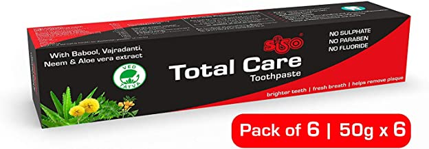 Siso Total Care Toothpaste 50g (Pack of 6)