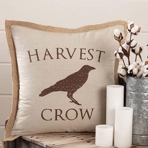 Piper Classics Harvest Crow Throw Pillow Cover 20 X 20 Fall Autumn Country Primitive Farmhouse Home Decor