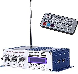 Sumbay Mini Stereo Audio Endstufe, Hifi Verstärker Digital Motorrad Stereo Verstärker 2 Kanal Audio Musik Player Mit Fernbedienung, Ideal Für Wohnungen, Moto, Motorrad, Auto (Blau)