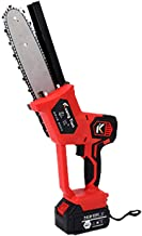 knowledgi Mini-kettingzaag met accu, draadloos, 20,3 cm, mini-schaar, draagbaar, voor het snijden van snijbomen, inclusief...