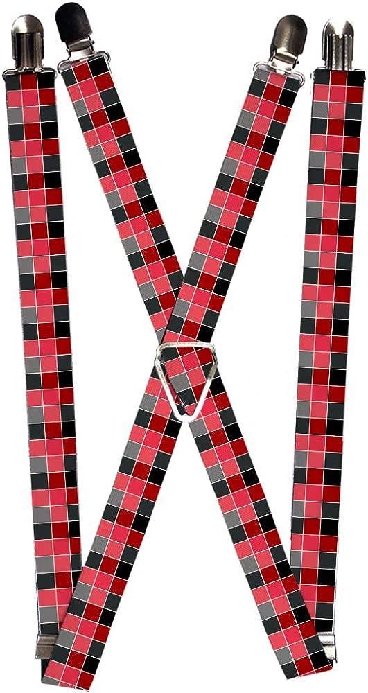 Buckle-Down Unisex-Adult's Suspender-Checkered