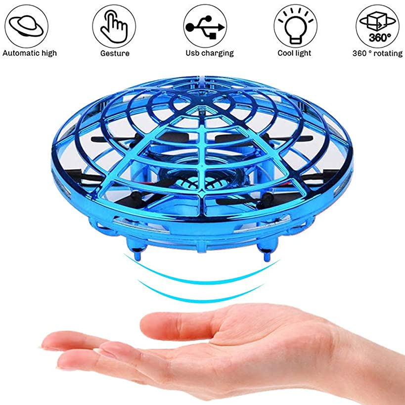 Flying Ball, Hand Operated Drones for Kids or Adults, Boy Toy, Scoot Mini Drone for Kids, UFO Flying Toy, Helicopter, Small Orb, Hover Ball Toy, 2 Speeds,360 Degree, Interactive Toys Gift for Boy Gril