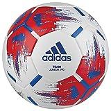 adidas Herren Team Junior Ball Fußball, White/Red/Blue/Silvmt, 5