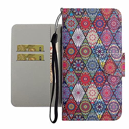 TYWZ Bonita funda para iPhone 8 Plus/7 Plus, funda de piel sintética para niñas y mujeres, diseño colorido, ranura para tarjeta, cierre magnético