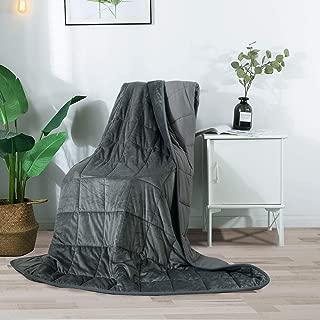 Haowaner Weighted Blanket 100% Cotton Top+ Mink Fuzzy Weighted Blanket Plush Bottom, 20lb Heavy Blanket Adult, 60
