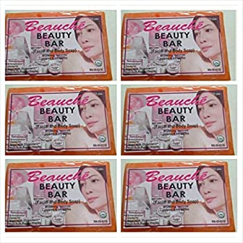 6 Pack Beauche Kojik Facial & Body Bar Soap