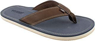 Dockers Men's Flip Flop Sandal ; Classic Comfort Footbed with Two-Tone Upper, Big & Tall Size 13-14, Navy Pebble