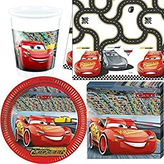 18 x Personalised Disney Cars Birthday Party Cup Stickers Decorations
