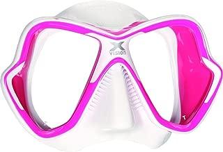 Mares X-Vision Liquid Skin Dive Mask, Pink/White