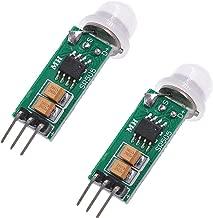 Oiyagai 2 PCS HC-SR505 Mini Infrared PIR Human Motion Sensor Detector Module for Arduino