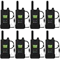 8-Pack Cobra MicroTALK 23-Mile 22-Channel FRS/GMRS 2-Way Radios