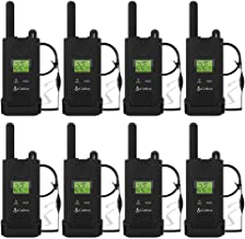 Cobra PX500 Walkie Talkies Pro Business Two-Way Radios (Eight Pack, Bundled with Eight GA-SV01 Headsets)