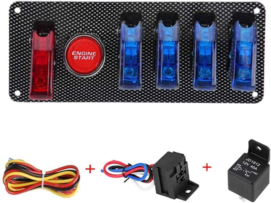 12V Ignition Max 49% OFF Switch Panel for Racing Engine Push Start Butto Car Spring new work