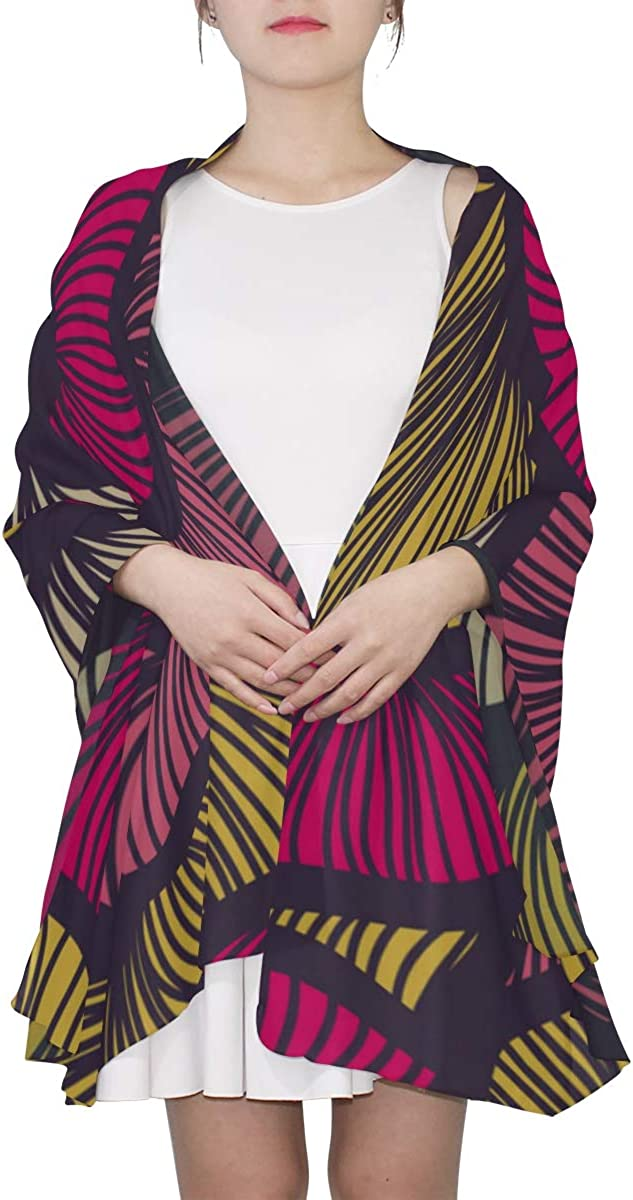 Womens Wrap Shawl Artistic Abstract Colored Texture Lines Scarfs Lightweight Lightweight Designer Scarf Lightweight Print Scarves Girls Scarfs Little Girls Scarfs Fashion