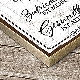 TypeStoff Holzschild mit Spruch – Gesundheit IST Alles - Shabby chic Retro Vintage Nostalgie deko Typografie-Grafik-Bild bunt im Used-Look aus MDF-Holz (19,5 x 19,5 cm) - 2