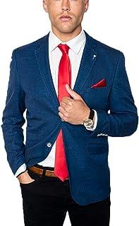 Cavani Men's Miami Slim Fit Linen Blend Jacket Blazer