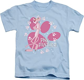 Pink Panther Walk All Over Unisex Youth Juvenile T-Shirt for Girls and Boys