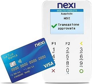 Nexi - Mobile Pos - Lettore Elettronico Portatile Contactless per Bancomat, Carta di Credito, Prepagata, Apple Pay e Googl...